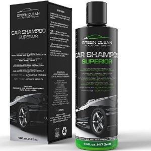green automotive car shampoo
