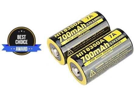 best 18350 battery