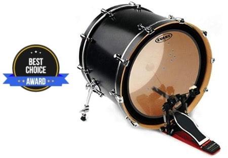 best bass drum head