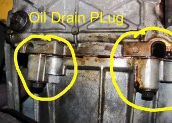 Transmission oil drain plug leak